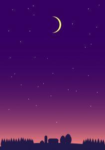 十勝平野の夕暮れ