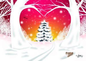 ハートツリークリスマス