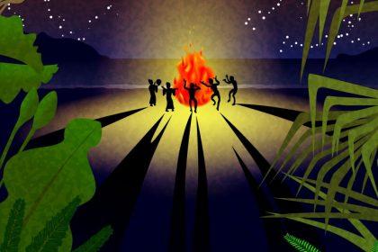 夏の夜の舞