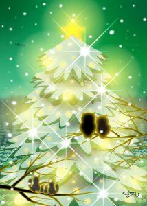 Green Night Christmas